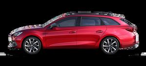 SEAT Leon Kombi rot in der Seitenansicht